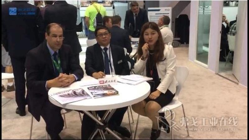 IMTS2018-奥地利WFL车铣技术公司全球销售总裁Martin Kaukal先生和北京办事处首席代表李锋博士接受李语林主播的采访