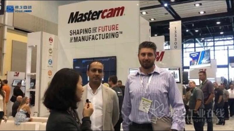 IMTS2018-Mastercam大中华区总经理李颖女士和合作伙伴 Hypertherm Robotic Software 交流机器人离线编程解决方案