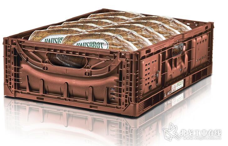 FCO公司研发生产的可重复使用的可折叠面包箱折叠后的空箱高度只有28 mm