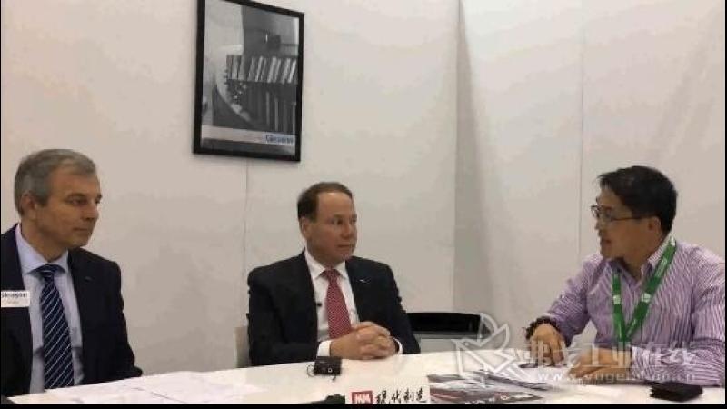 IMTS2018-格里森公司总裁兼CEO John J Perrotti先生和全球销售及市场副总裁Udo Stolz先生接受陈主编采访