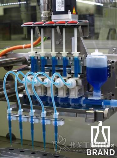 Brand液体处理产品系列的seripettor®瓶口分液器