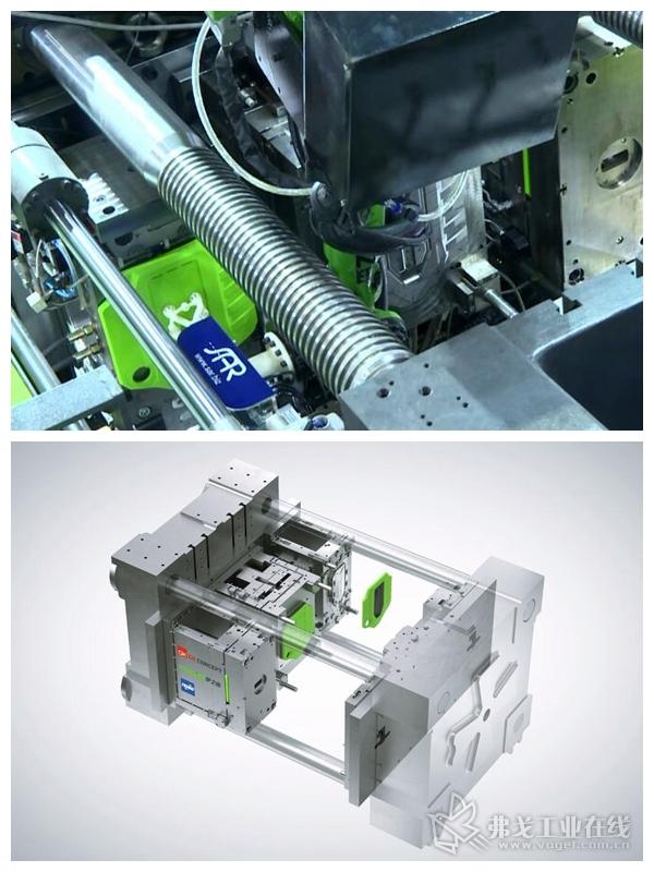 ReactPro方案在Chinaplas 2019展会中首次亮相,一步成型出带局部高光聚氨酯表面的汽车发动机盖板