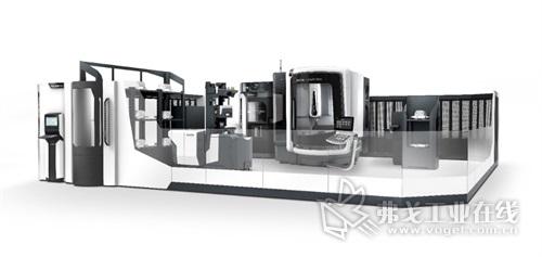 DMG MORI将在2号展馆展出多款自动化解决方案,包括配全新AGV(自动引导车)的DMU 65 monoBLOCK,AGV是一款独立的托盘自动化系统。