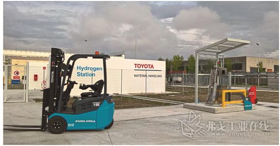 图1 几乎所有型号的丰田叉车都可以配用燃料电池驱动系统