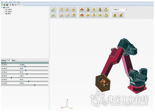 在贝加莱Scene Viewer的帮助下,用户可以轻松创建机器人机械本体模型,无需使用任何实际硬件即可显示和记录机器人运动。这样可以提前测试机器人应用程序,并减少在机器上调试所需要的时间。