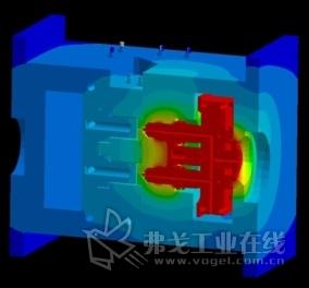 图1 采用SIGMASOFT® Virtual Molding的模拟过程表明,热流道对模具温度有很大影响