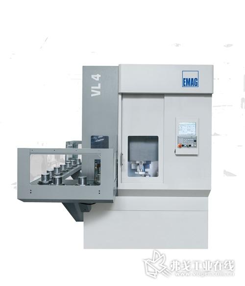 图1 VL 4车床设计内置一套上下料工件输送系统,可用于加工最大直径200mm的零部件