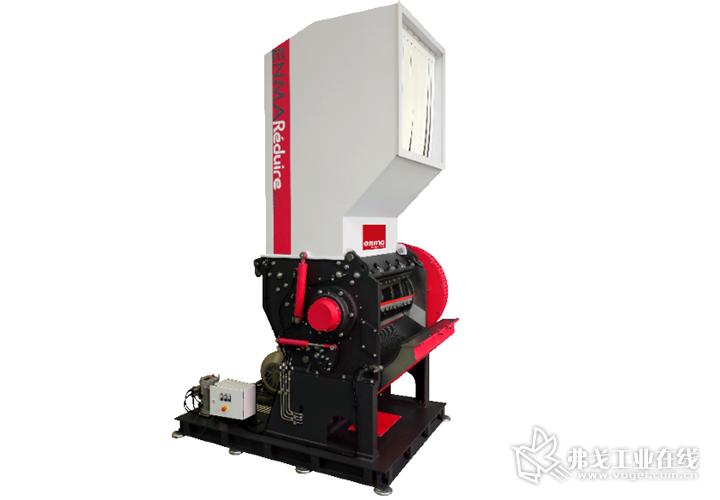 """乐减小™ 系列粉碎机100%专注于工厂内的塑料粉碎及大型的废料处理,采用了模块化箱体和世界首创的""""开放式""""设计"""