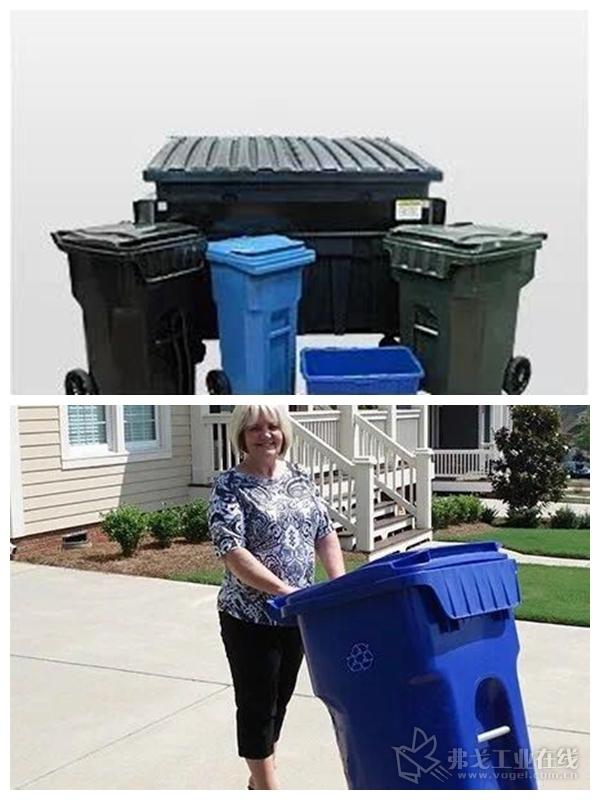 Otto Environmental Systems生产的户外垃圾箱