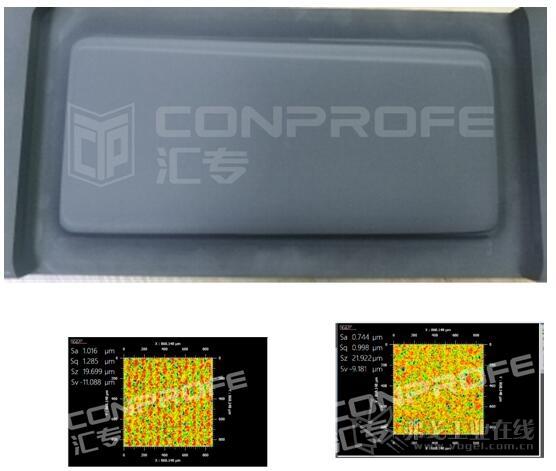 使用某进口品牌PCD刀对石墨模具进行曲面精加工