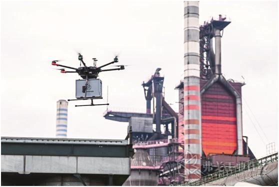 无人机飞行了2.2 km将被测样本从工厂的港口运到了中央实验室