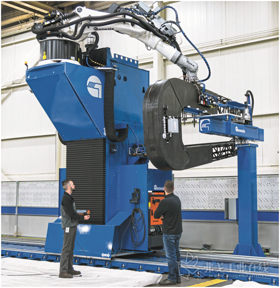 图4 Genesis集团公司的Naspect检测系统将超声波检验与机器人定位数据结合到一起,可以实现关键零部件的材料检验