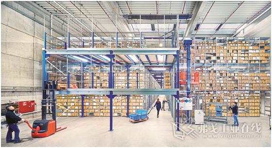 图1 电子商务零售商Publikat公司现在使用了Bito公司的多层搁板货架系统