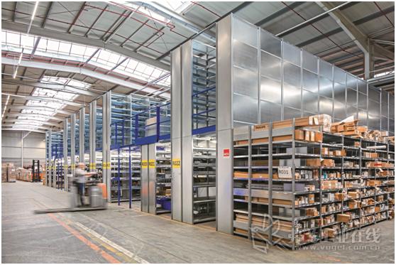 图2 LDBS公司中央仓库中新的Meta-Clip货架系统还可以再增加一层