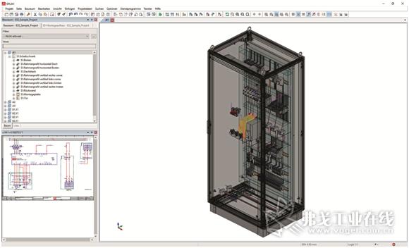 图1 从电路图到全部安装完毕的Rittal公司VX25系列电气控制柜