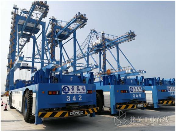 西青岛自动化码头二期STS&AGV