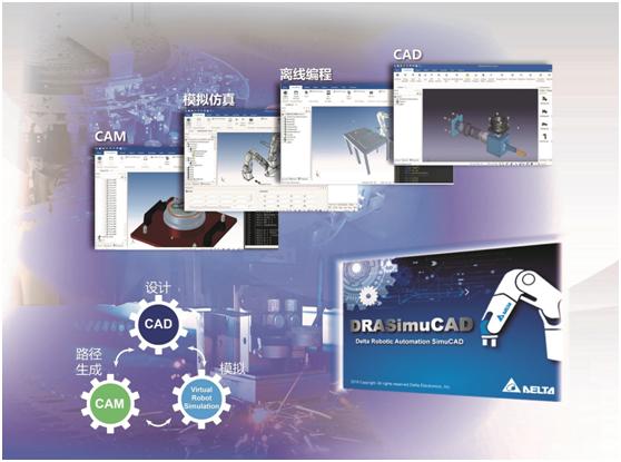 台达机器人模拟整合平台DRASimuCAD