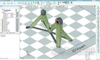 使用3DXpert重新设计的网格基座
