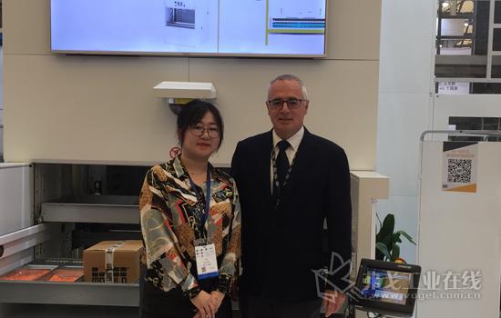 MM现代物流主编许莹女士、摩登纳(中国)自动化设备有限公司总经理Riccardo Campanile先生