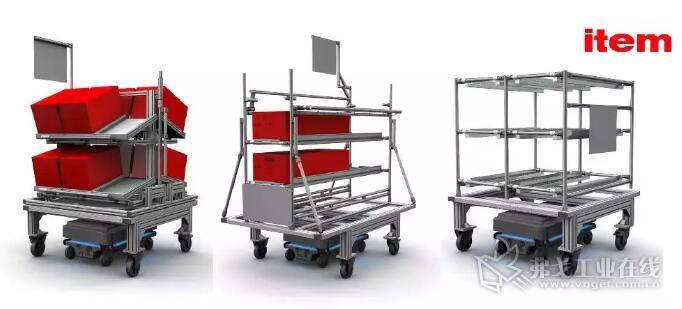 item 的 MB 工业铝型材装配系统和 D30 铝型材精益系统
