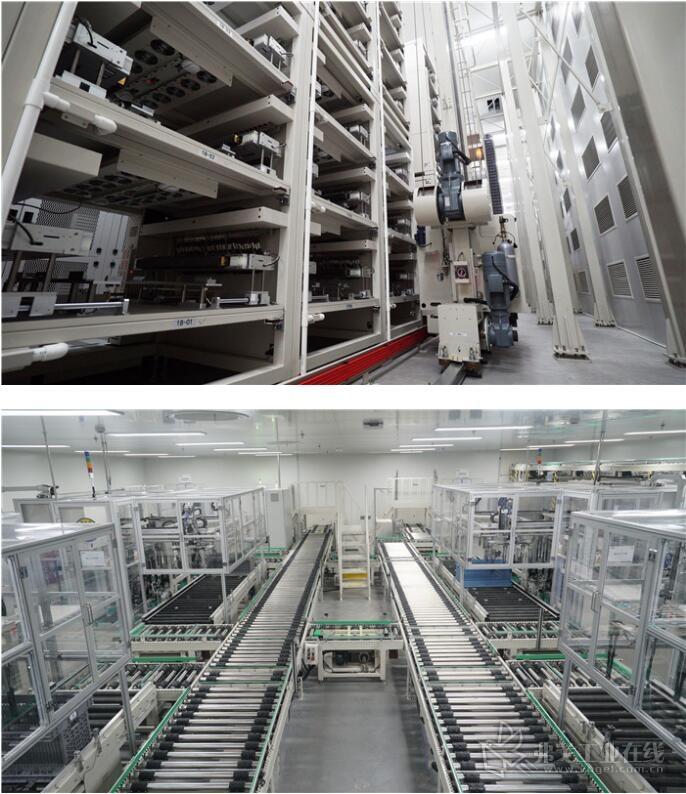 智能设备全覆盖,整套系统共配套33台中鼎集成自主研发MiniLoad堆垛机、20台AGV,近2200米物流输送线。