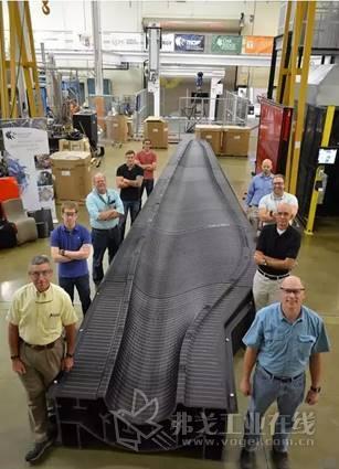 全美最大的风电叶片制造商TPI Composites和桑迪亚国家实验室、橡树岭国家实验室合作完成的3D打印叶片模具