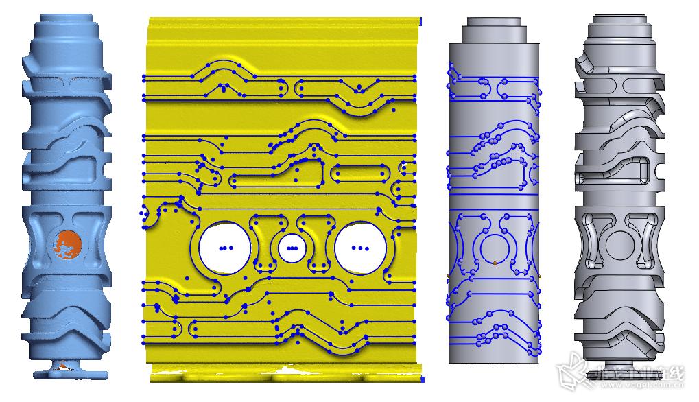全新的 Geomagic Design X 功能提高精度的同时提升效率
